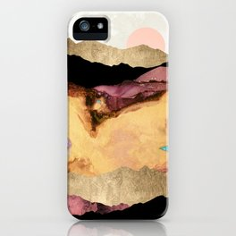 Mauve and Gold Mountains iPhone Case