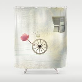 Time Rabbit Shower Curtain