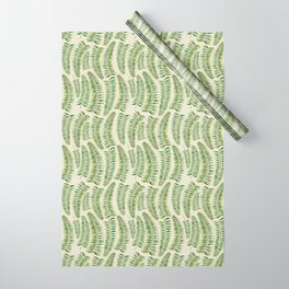 Palm leaves in tiger print Wrapping Paper