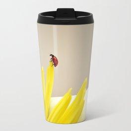 red ladybug Travel Mug