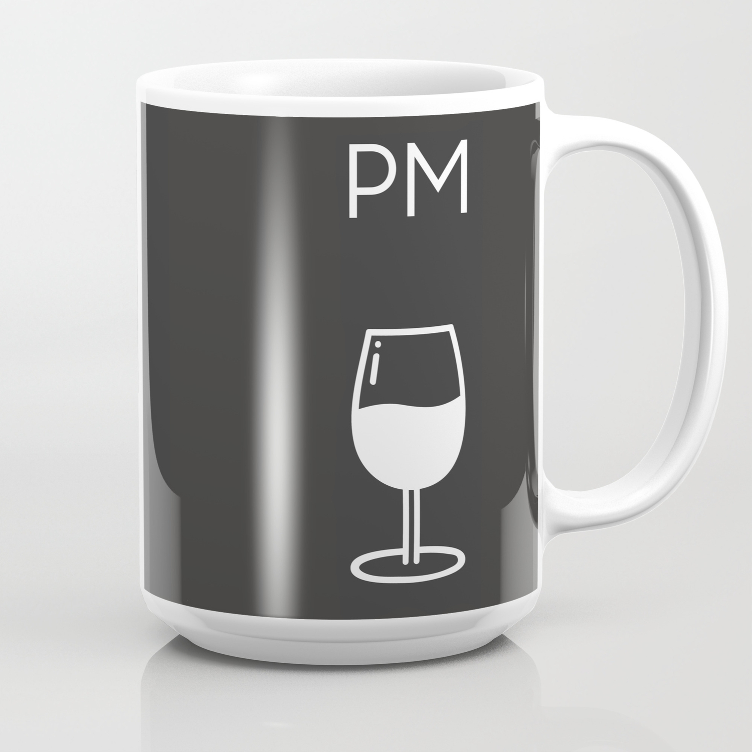 Am Pm Kitchen Poster Coffee Wine Decor Home Decor Wall Art Am Pm Sign Wine Sign Coffee Mug By Fingerartprints Society6