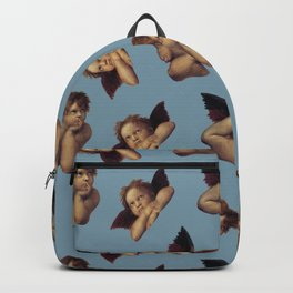 Classical Cherub Toss in Venetian Blue Backpack