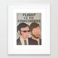 flight of the conchords Framed Art Prints featuring Flight of the Conchords by Jake Jones
