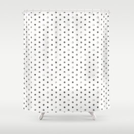 Watercolor Polka Dot Pattern   Black and White Shower Curtain