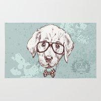puppy Area & Throw Rugs featuring Puppy by Iriskana