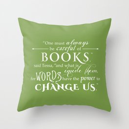 Words Have the Power to Change - Tessa (Med Green) Throw Pillow