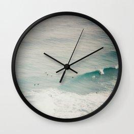 Waves vignette Wall Clock