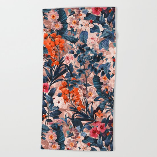 Summer Botanical Garden XI Beach Towel