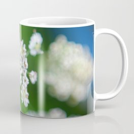 White flowers Beskid Niski Coffee Mug