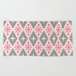 Mid Century Modern Atomic Triangle Pattern 115 Beach Towel