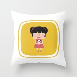 Hello how are you (Yellow Tales Series #1) Throw Pillow