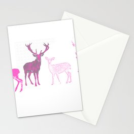 oh deer pink II Stationery Cards