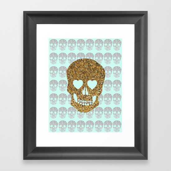 skulls & heartz;; Framed Art Print