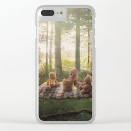 The Teddy Bear Picnic Adventure Clear iPhone Case