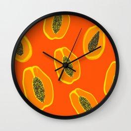 Sarah - papaya Wall Clock