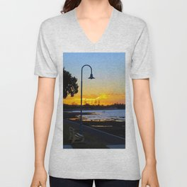 Wynnum Sunset Unisex V-Neck