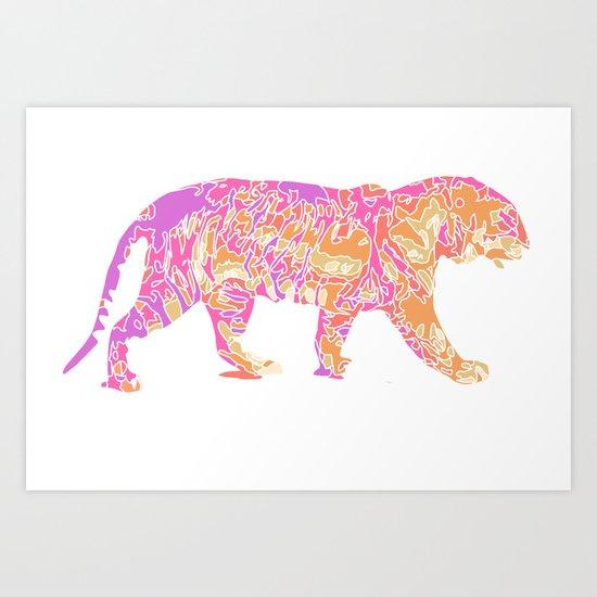 Tiger Burning Bright Art Print