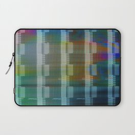 Analogue Glitch Rainbow Blocks Laptop Sleeve