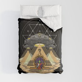 Alien Abduction Anunnaki Space Egyptian Pyramids Comforters