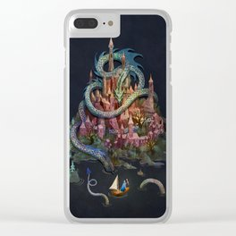 Dragon Island Clear iPhone Case