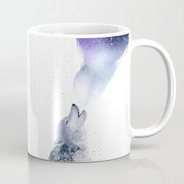 Howling Wolf in The Starlit Night Coffee Mug