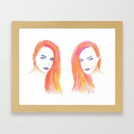 Cara Delevingne Framed Art Print