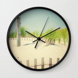 Ocean beach dunes Wall Clock