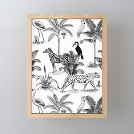 botanical jungle Framed Mini Art Print