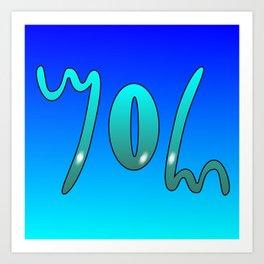 John (Ambigram) Namendreher Art Print