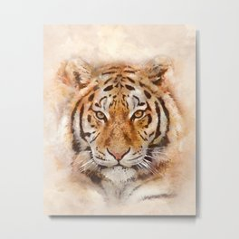 Tiger Watercolor, Art Print By LandSartprints  Metal Print