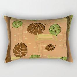 Tiki Bar Wallpaper Pattern Rectangular Pillow