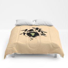 Vermont - State Papercut Print Comforters