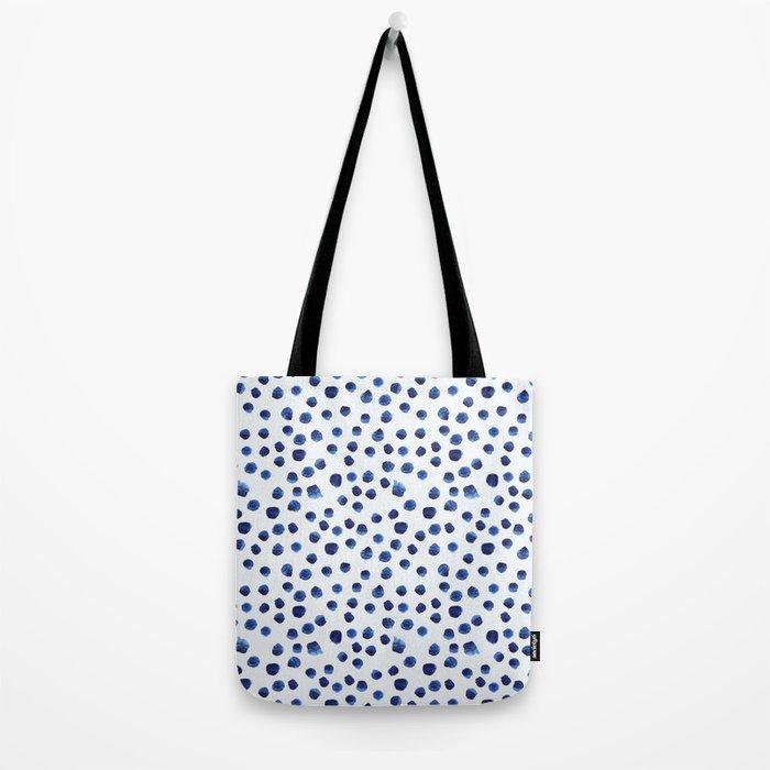 Blue brushstrokes Tote Bag