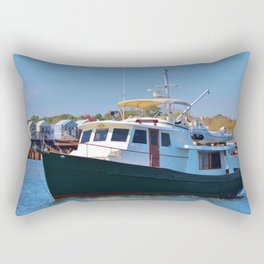 Classic Wooden Boat Rectangular Pillow