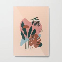 Shapes & Plant - Modern Abstract Art 01 Metal Print