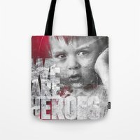 toddler Tote Bags featuring Hero Sessions III by HappyMelvin