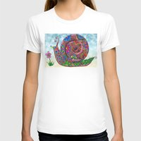 snail T-shirts featuring Snail by WelshPixie