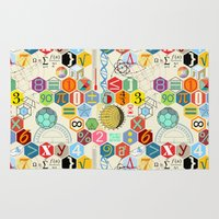 math Area & Throw Rugs featuring Math in color (little) by Chicca Besso
