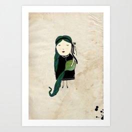 Aquario Girl Art Print