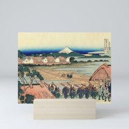 Katsushika Hokusai - 36 Views of Mount Fuji (1832) - 39: Pleasure District at Senju Mini Art Print