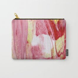 Pink Gold and White Carry-All Pouch