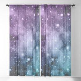 Purple Teal Galaxy Nebula Dream #2 #decor #art #society6 Sheer Curtain