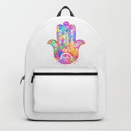 Watercolor Hamsa Hand Backpack