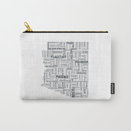Arizona Typography Print Carry-All Pouch