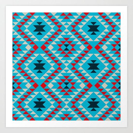 Geometric tribal pattern Art Print