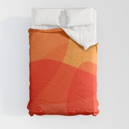Abstract Organic Shapes in Red Comforters