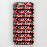 maori iPhone & iPod Skins featuring Kowhaiwhai Traditional Maori Koru Pattern by mailboxdisco