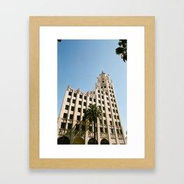 First National Bank Building - Hollywood Framed Art Print