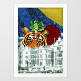 Glass Tiger Art Print