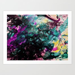 Textured Graffiti Print Art Print